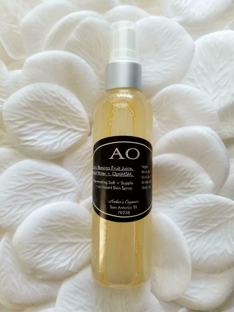 New! Organic Banana Fruit Juice, Coconut Water + OptiMSM. Brightens, Reboots Skin