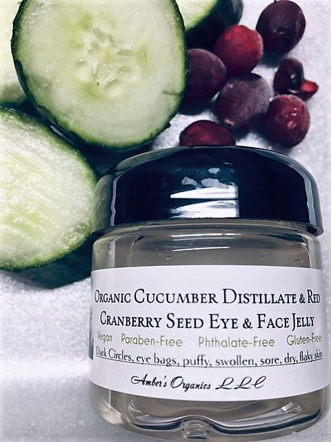 Organic Cucumber Distillate + Red Cranberry Seed Eye + Face Jelly