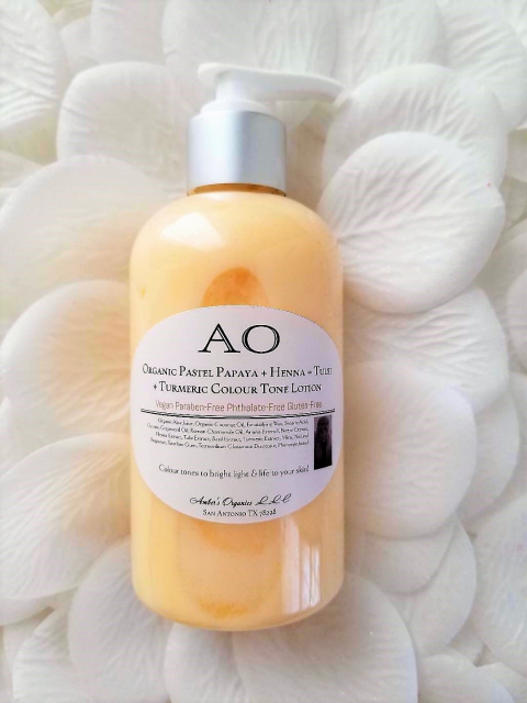 New! Organic Pastel Papaya + Henna + Tulsi  + Turmeric Colour Tone Lotion