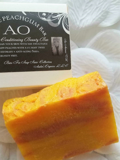Organic PEACHGUM Exquisite Conditioning Beauty Bar