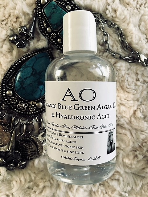 Organic Blue Green Algae, Kelp & Hyaluronic Acid - Oxygenates & Remineralises